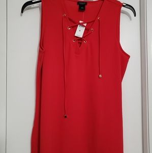 NWT Ann Taylor red sleeveless top